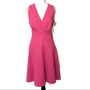 Maggy London Hot Pink Fit & Flare Dress - NWT
